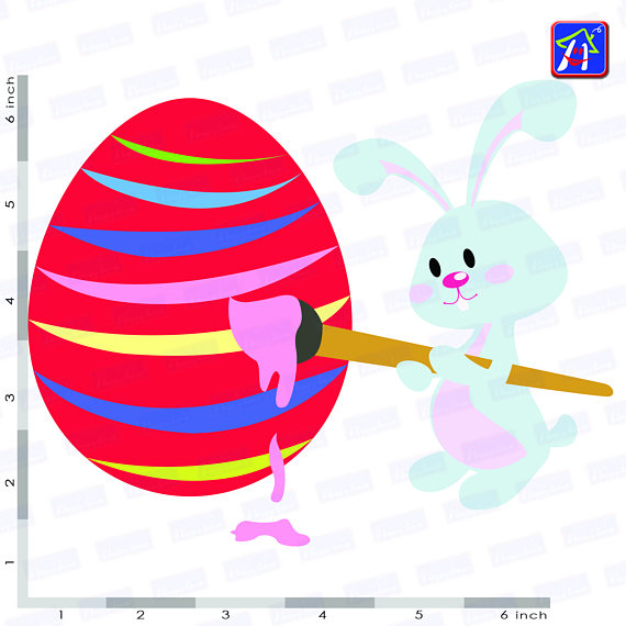 Easter bunny clip art - Personal and commercial use - Easter example image 4