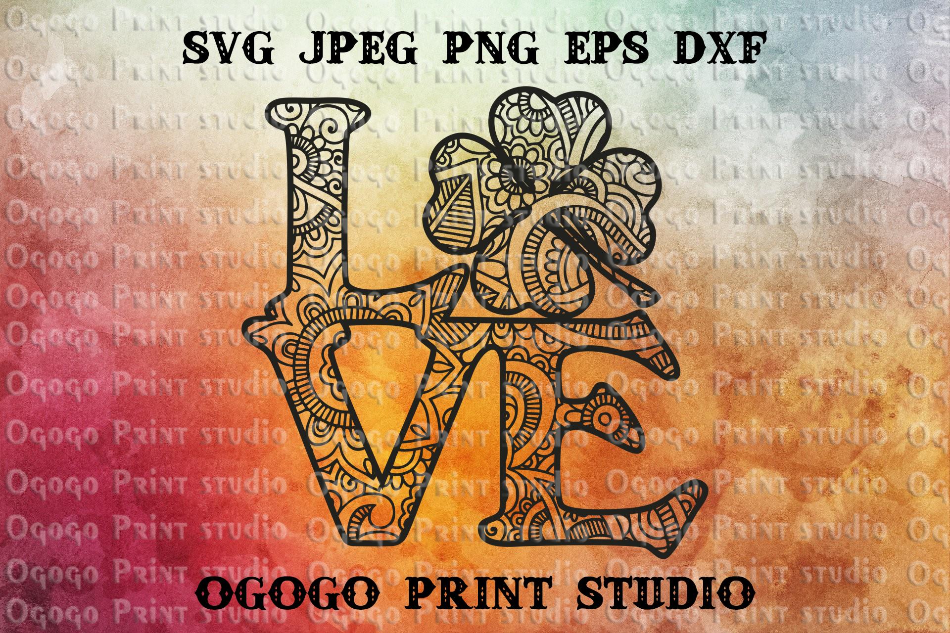 Shamrock svg, Zentangle SVG, St Patrick's Day svg, Mandala example image 1