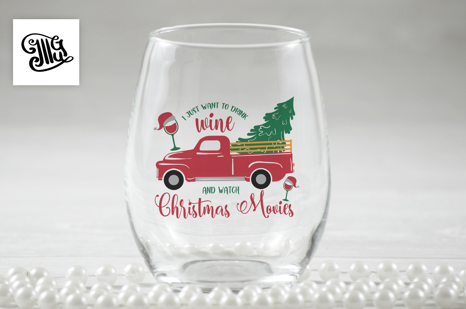 Christmas wine svg bundle example image 10