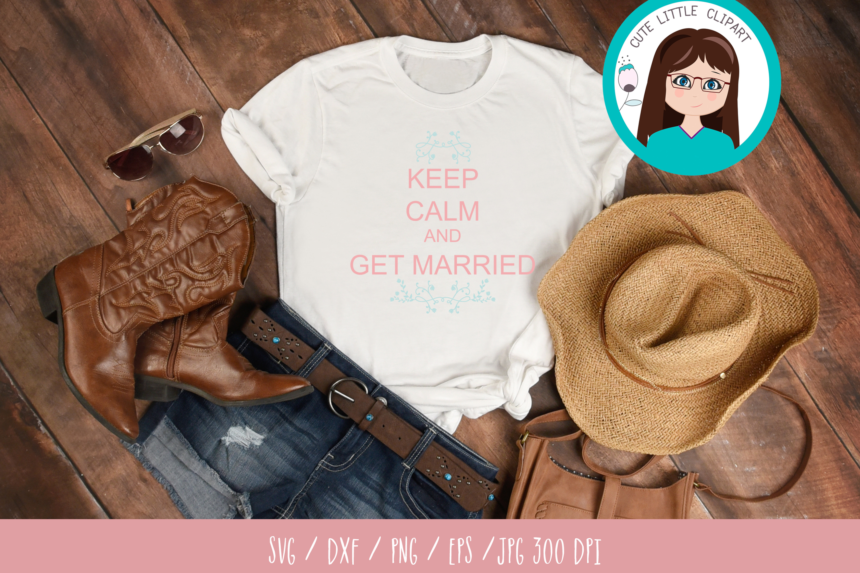 Keep Calm and Get Married svg example image 3