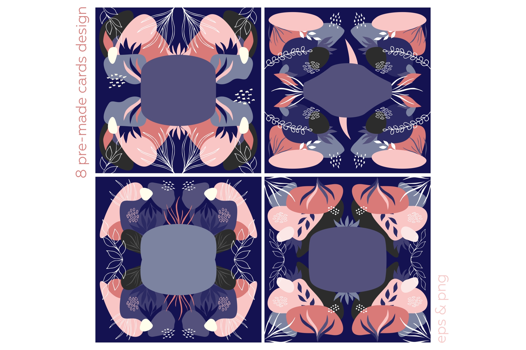 Botanicum. Modern and abstract pattern set. example image 10