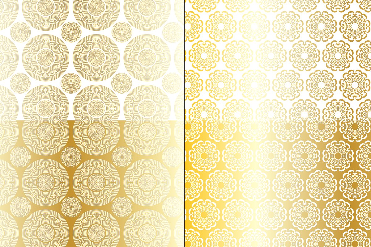 Gold Medallion Patterns example image 2