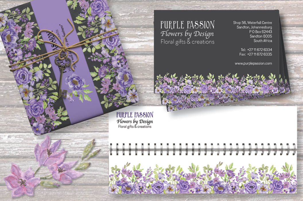 'Purple Passion II': watercolor border plus individual elements example image 5