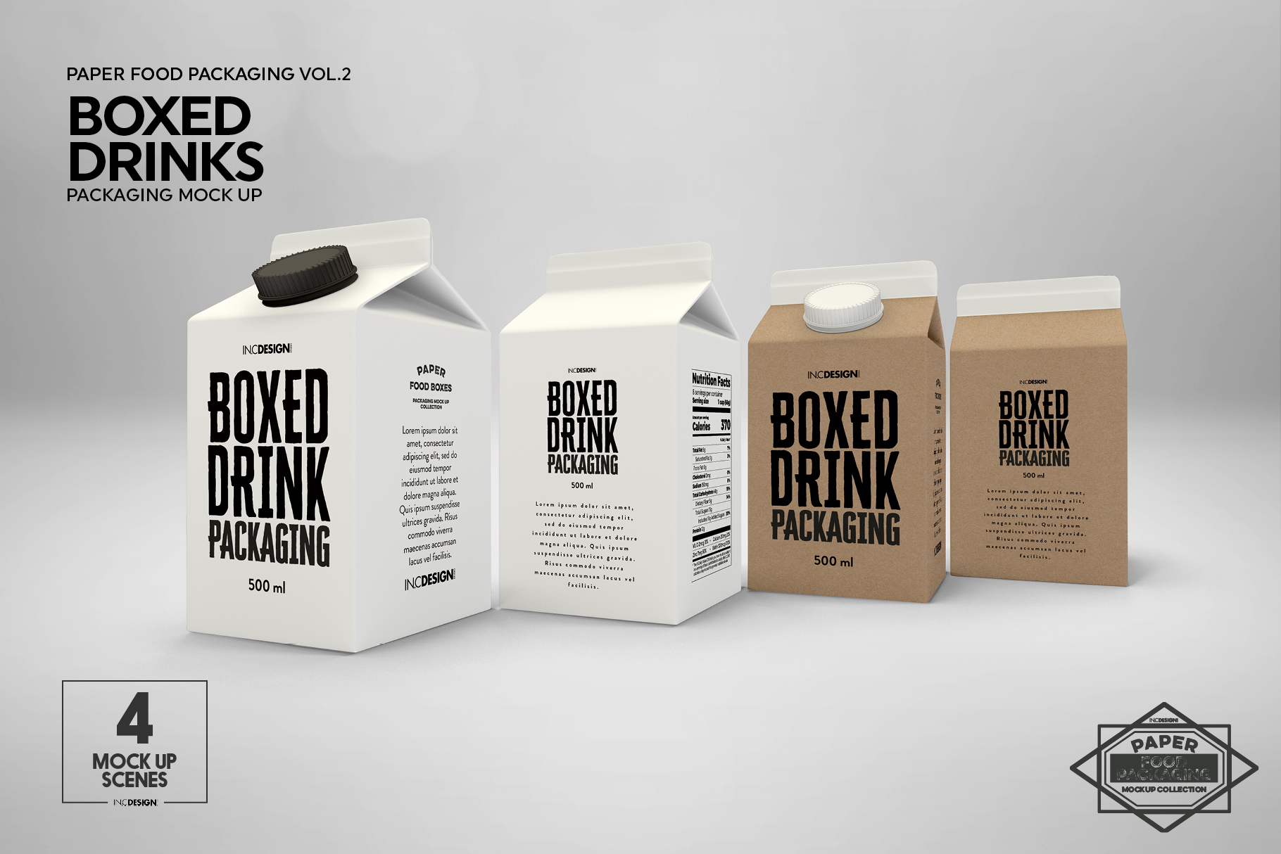 Boxed Drink Liquid Packaging Mockups example image 10