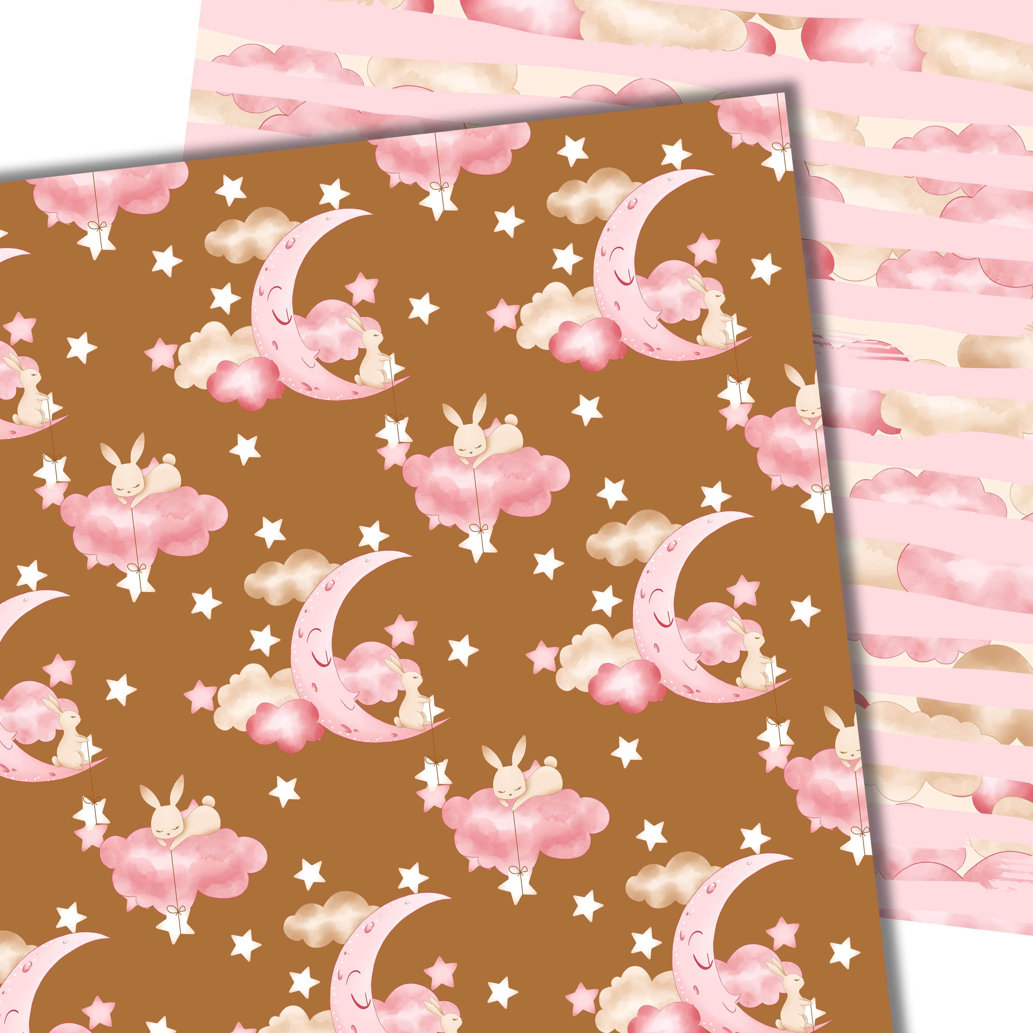 Good night bunny pattern in pink example image 3