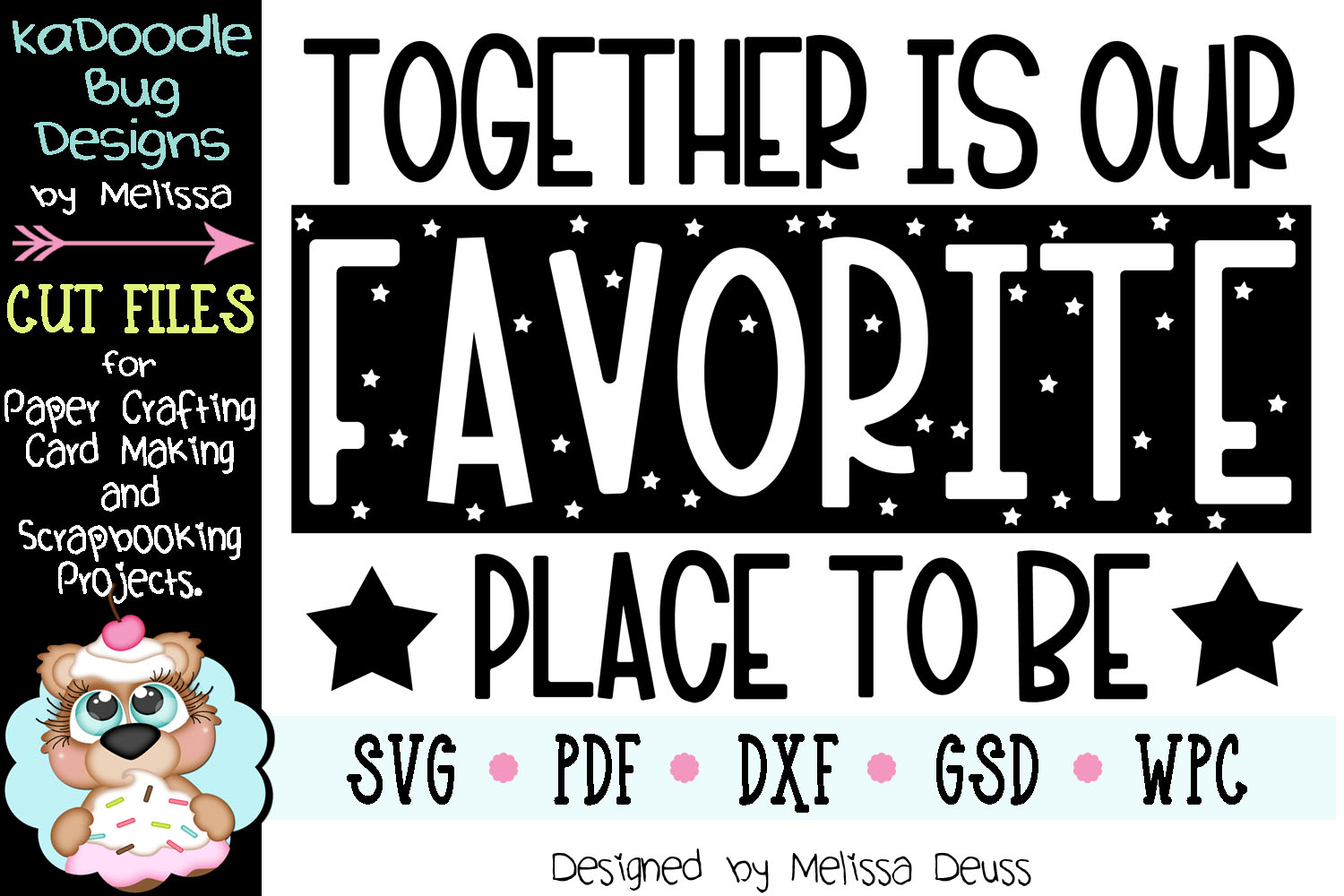 Together Is Our Favorite Place To Be Cut File - SVG PDF DXF example image 2