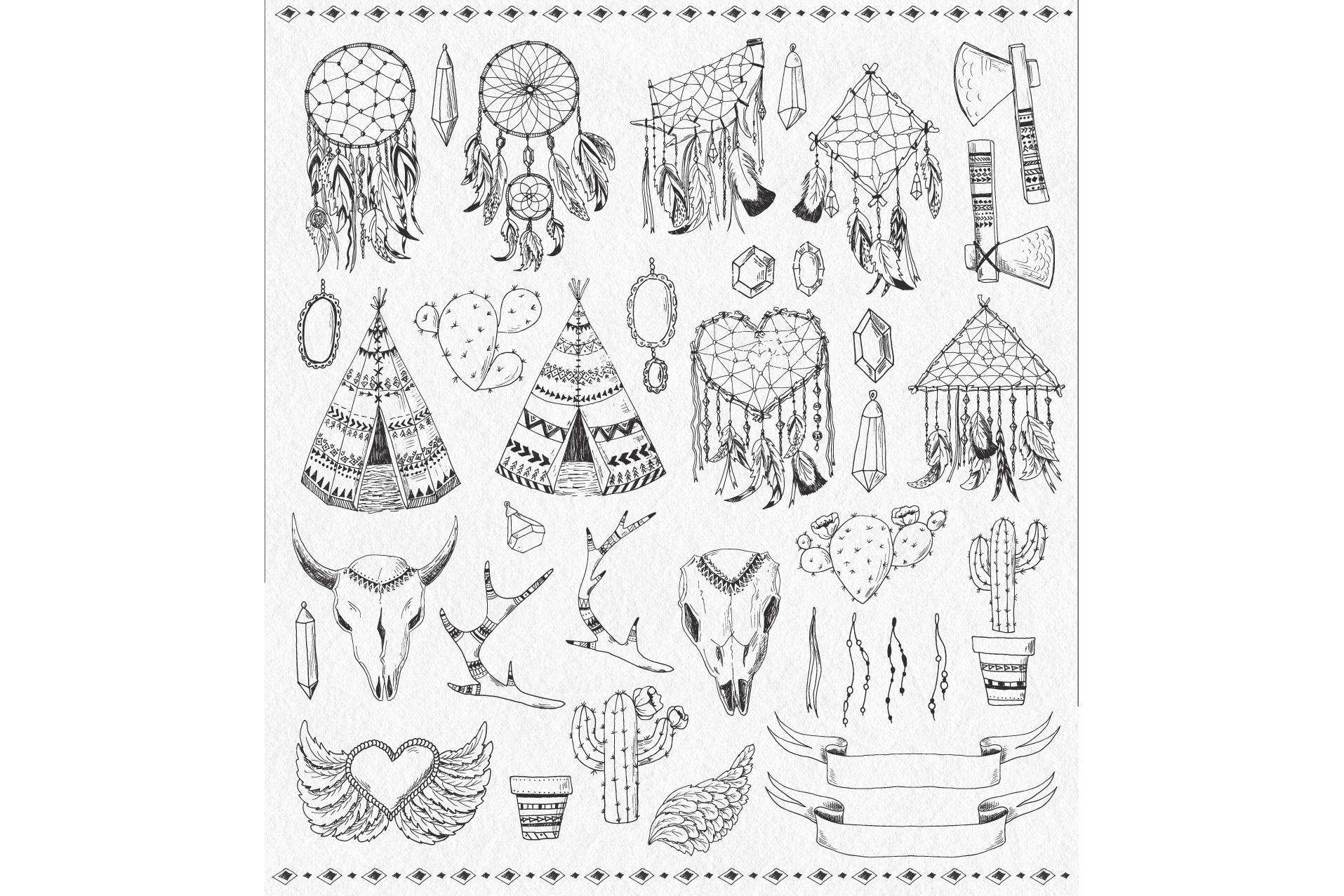Tribal Design Vector Set Vol.2 example image 2
