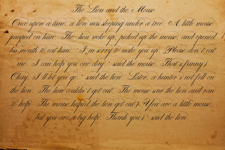 Classical Pen Script example image 3
