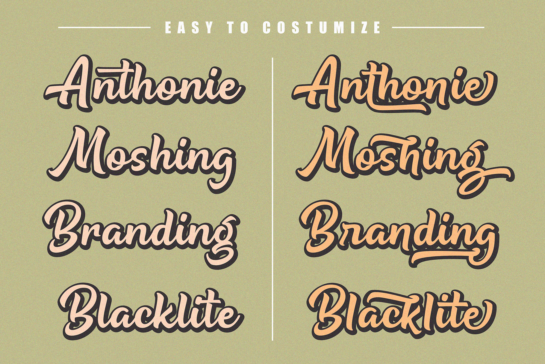 Being Strong Layered Font example image 3
