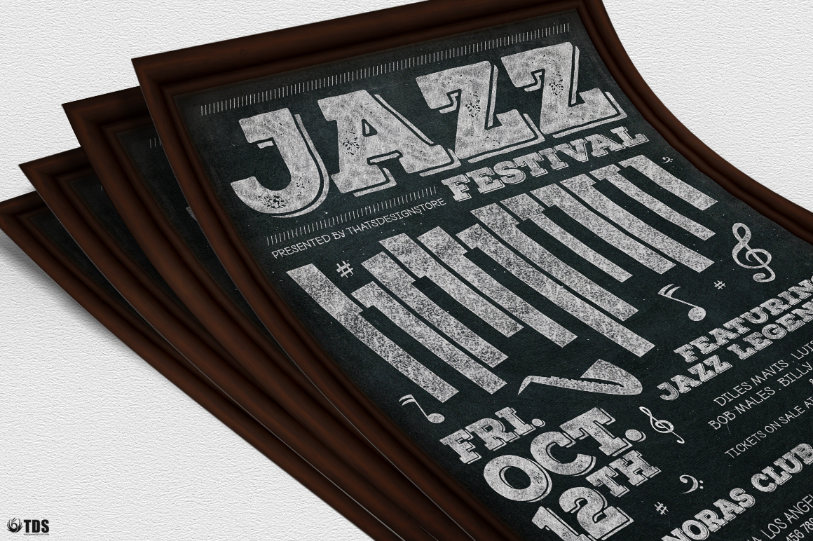 Jazz Festival Flyer Template V7 example image 5