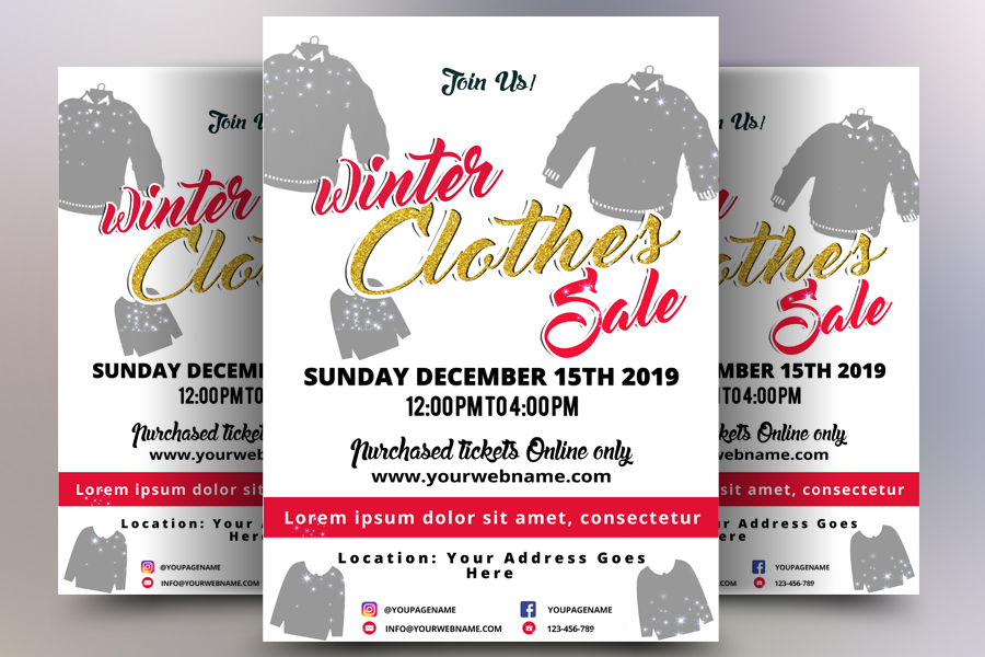 Winter Sales Flyer example image 1