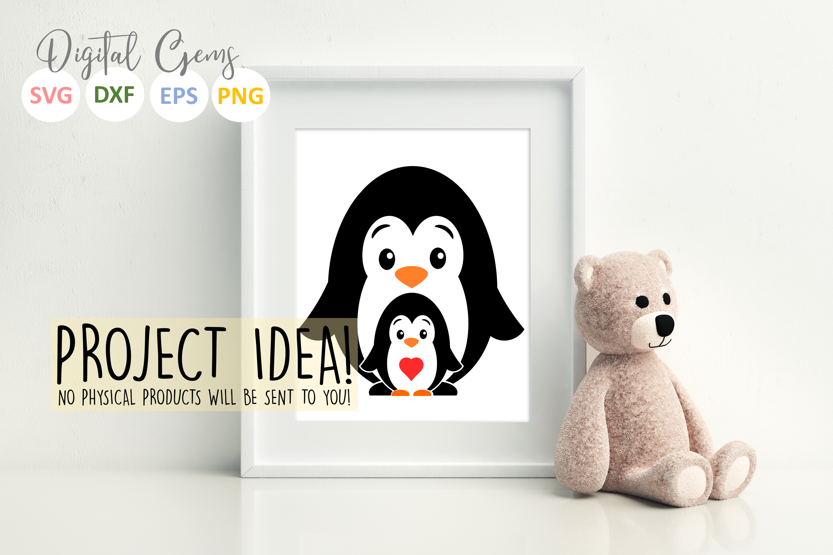 Penguin and baby design example image 3