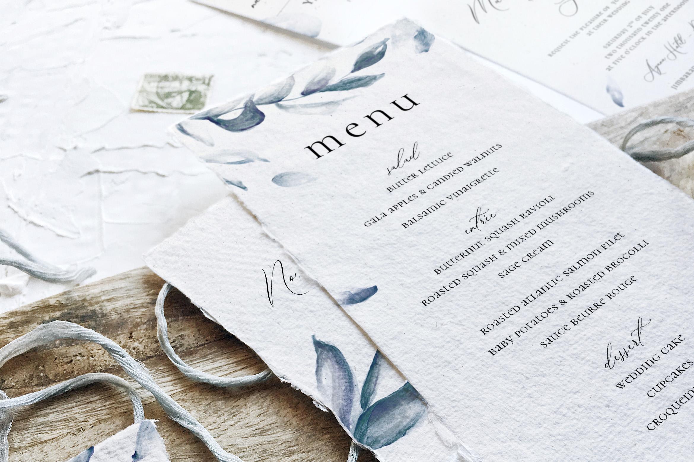 Elegant Blue Watercolor Sprig Wedding Suite example image 6