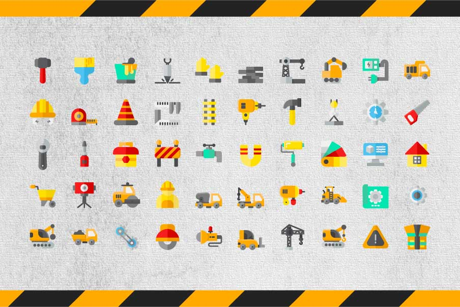 200 Construction Icon Pack example image 5