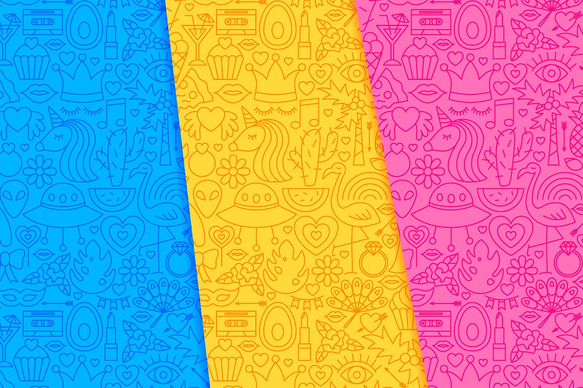 Girl Power Line Tile Patterns example image 3