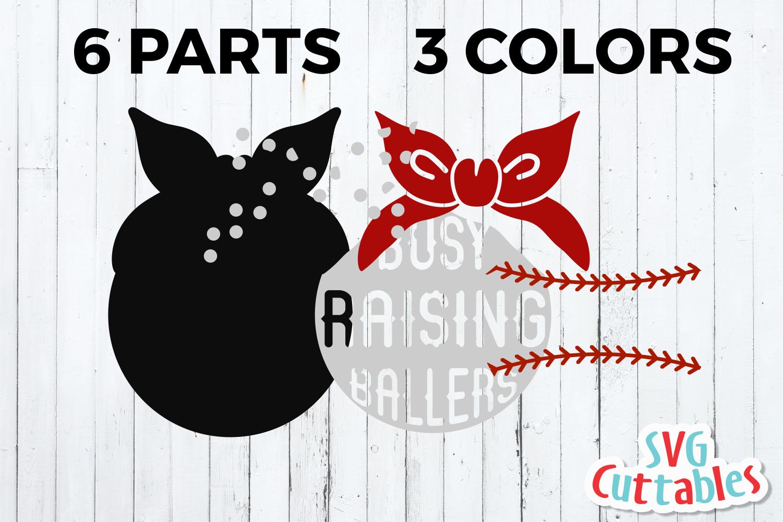 Busy Raising Ballers   Baseball   Softball SVG Cut File example image 2