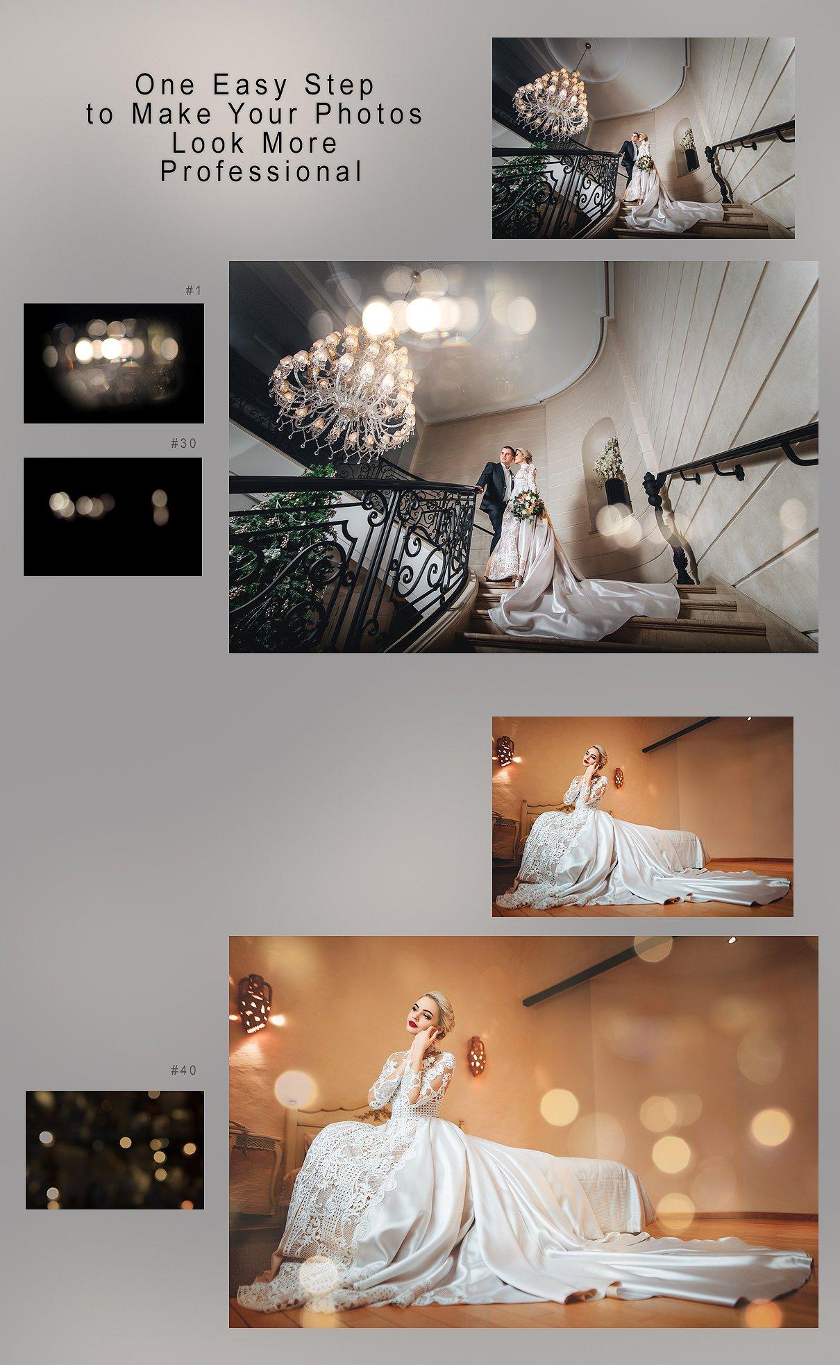 Wedding Art Bokeh Photo Overlays example image 2