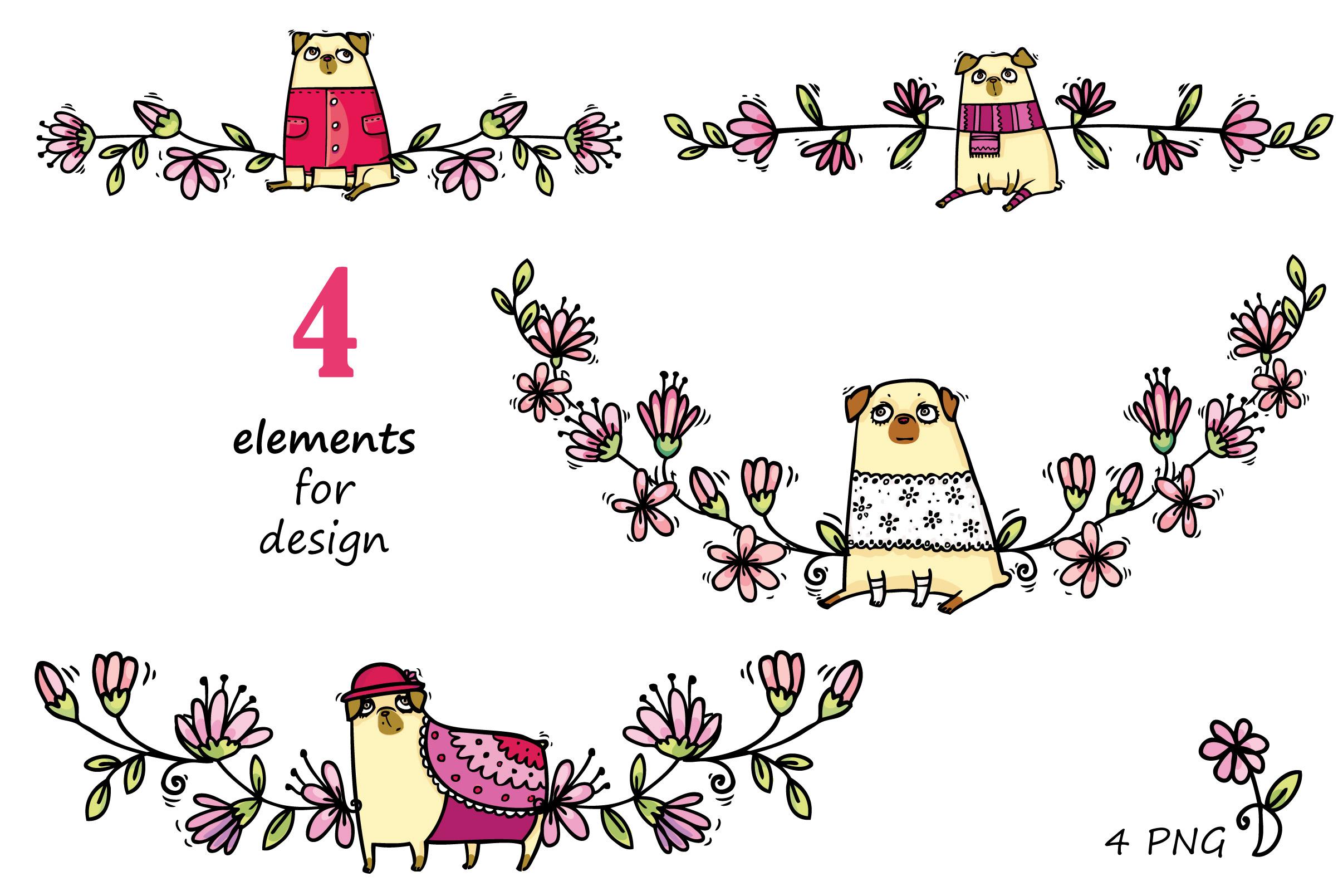 Pugs&Magnolias 29 elements example image 4