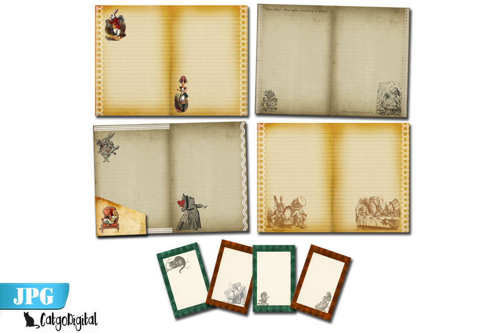 Printable Journal Alice in Wonderland example image 2