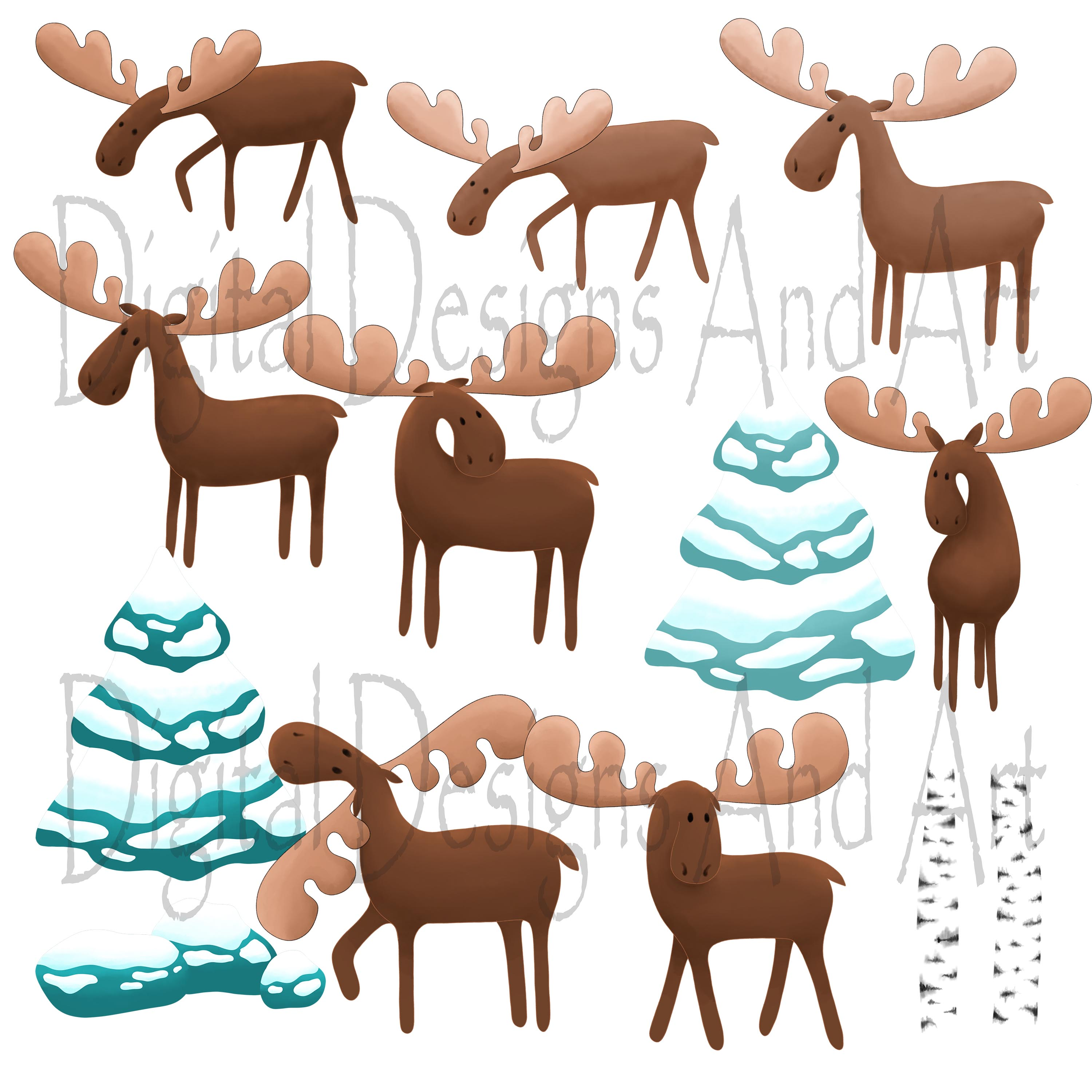 Moose clipart example image 4