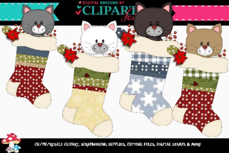 Christmas Kitten Stockings example image 1