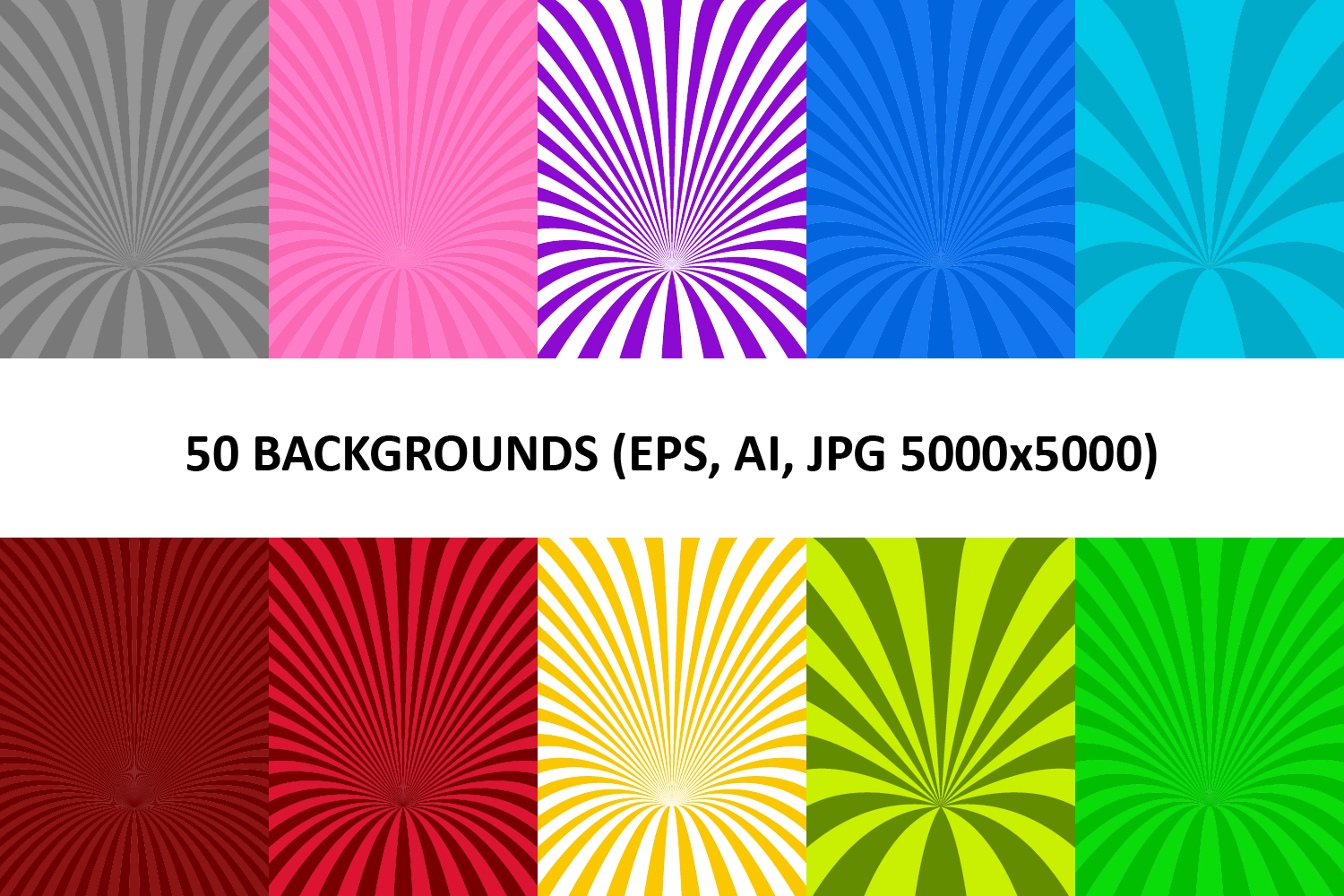 50 Curved Backgrounds AI, EPS, JPG 5000x5000 example image 1