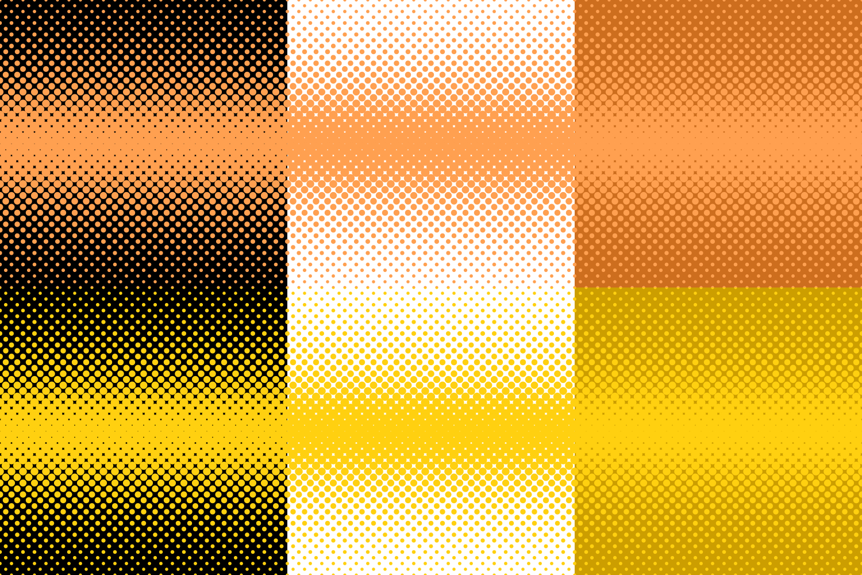 30 Halftone Dot Backgrounds (AI, EPS, JPG 5000x5000) example image 3