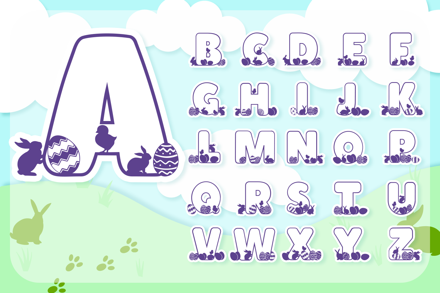 Easter Joy Font Pack | Easter Font for Cricut & Cameo example image 1