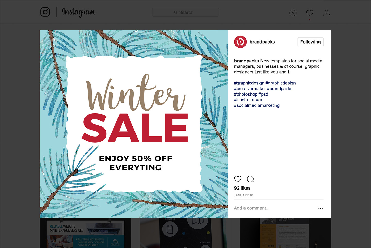 Winter Social Media Templates example image 6