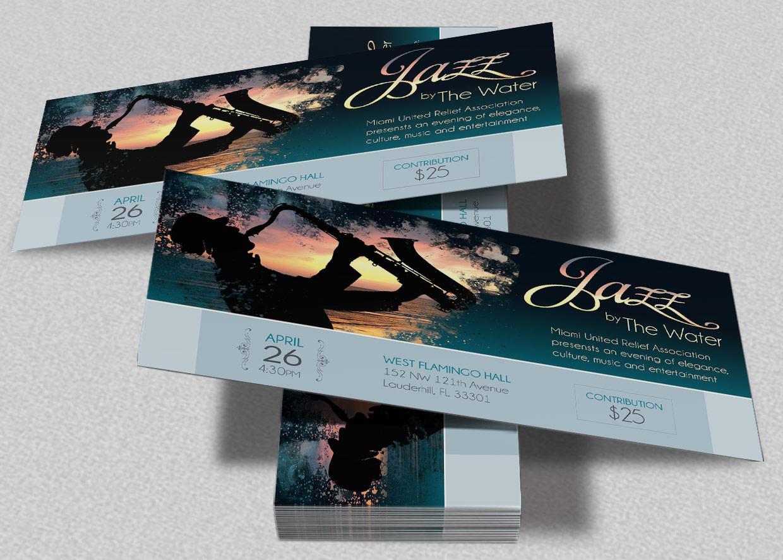 Jazz Concert Event Ticket Template example image 1