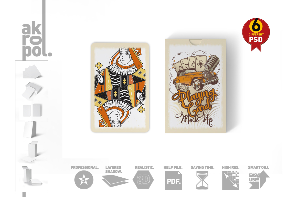 Playing Cards Mock Up example image 5