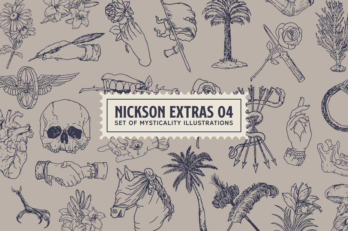 S&S Nickson Font Bundles  example image 8