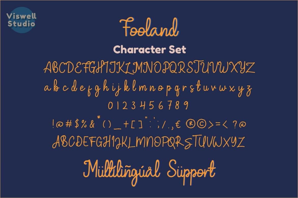 Fooland - Monoline Script Font example image 6