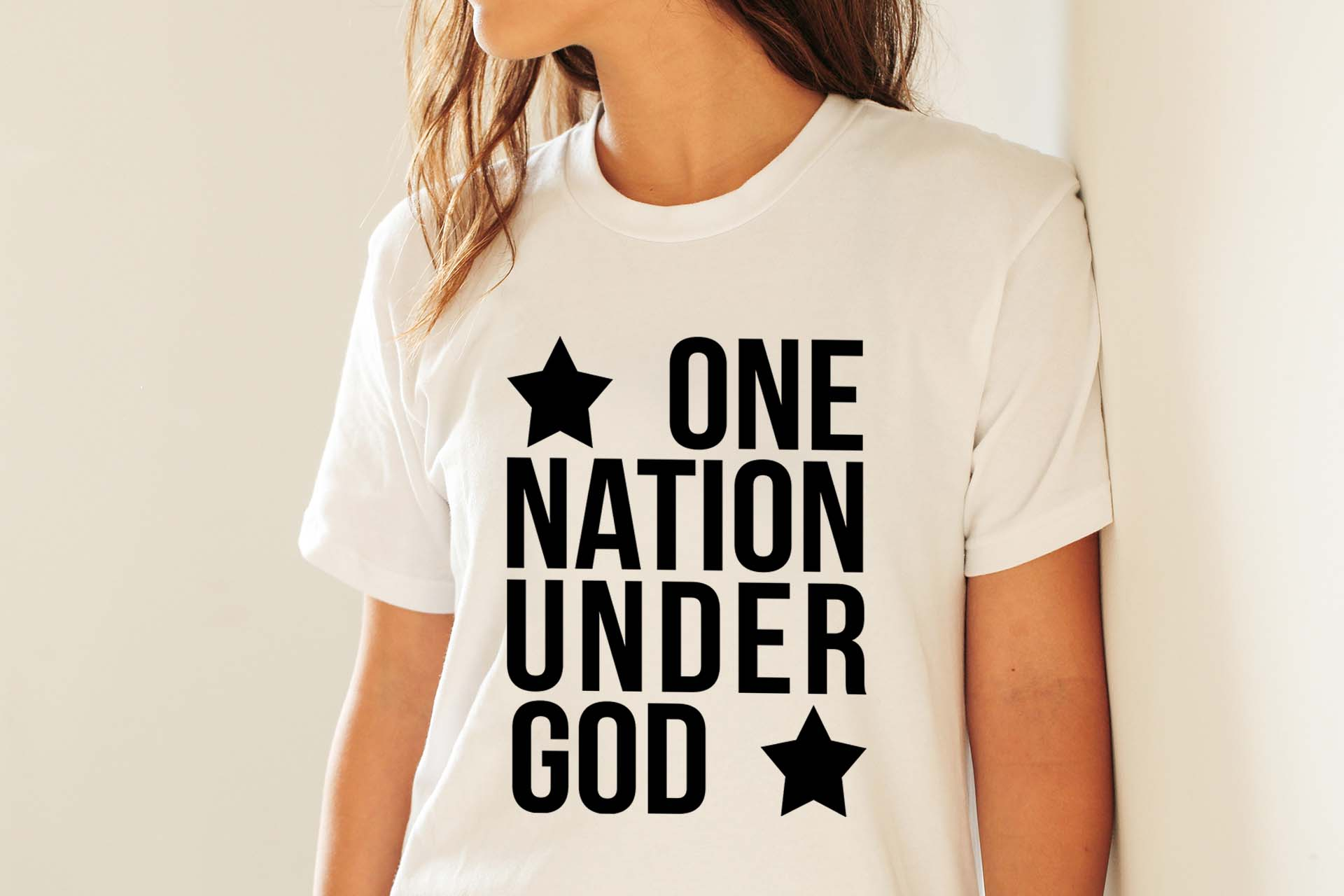 One nation under God SVG PNG EPS DXF 4th of July svg Patriotic svg file example image 4