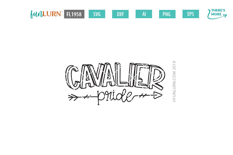 Cavalier Pride Team SVG Cut File example image 2