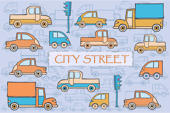 Toys vector buildings and cars example image 2