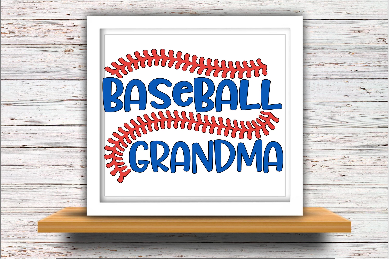 Baseball SVG DXF JPEG Silhouette Cameo Cricut Grandma svg example image 2