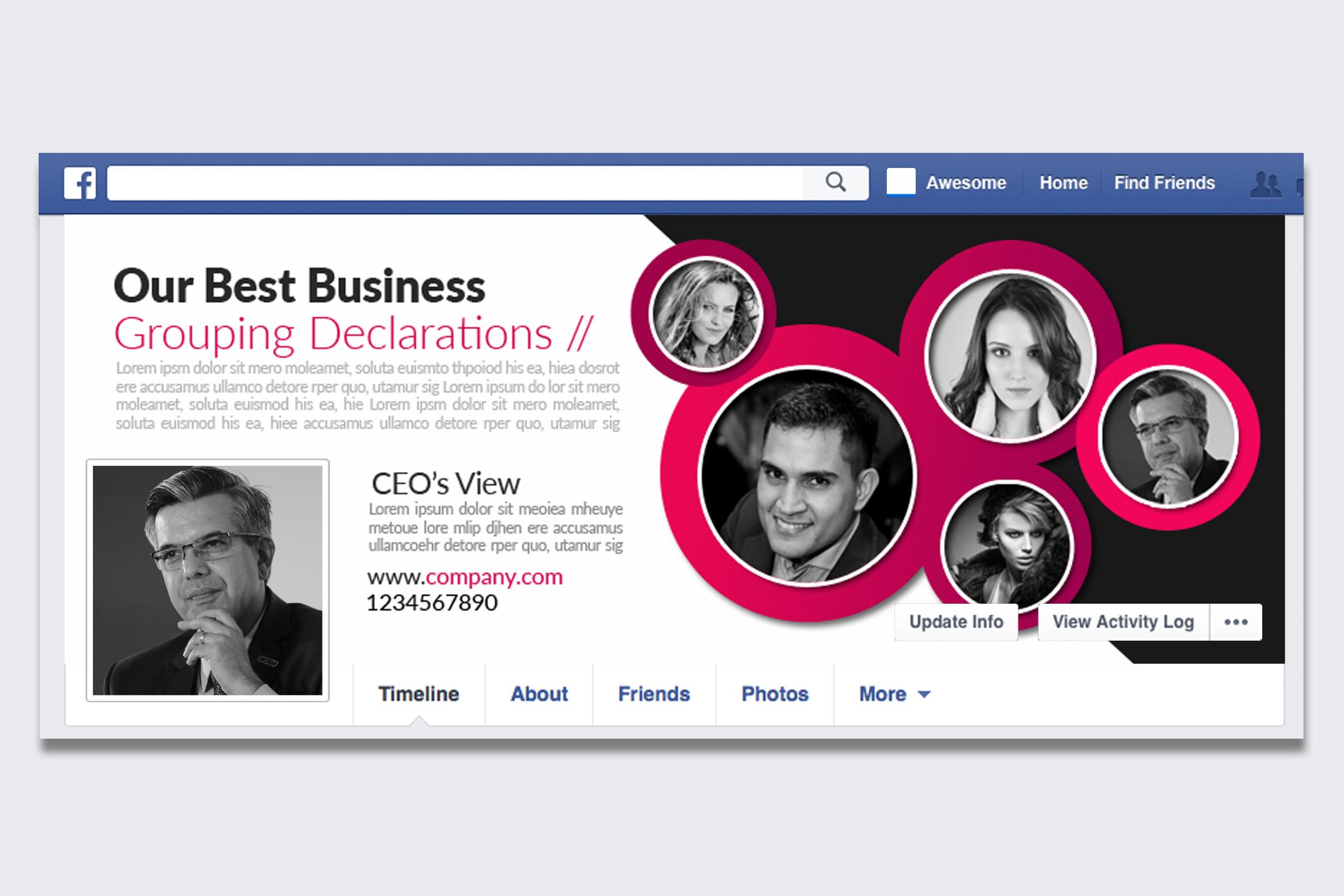 10 Business Facebook Timelines Bundle example image 10