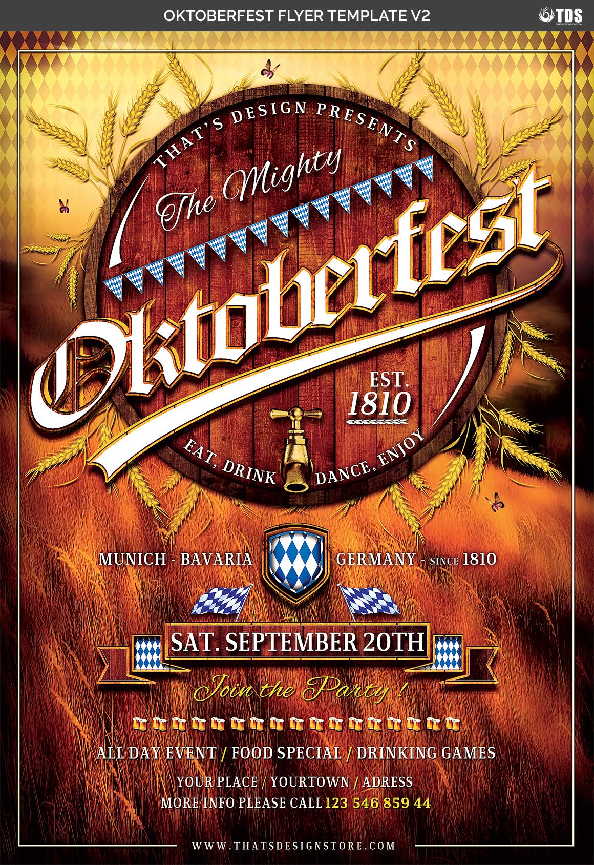 Oktoberfest Flyer Template V2 Example Image 2
