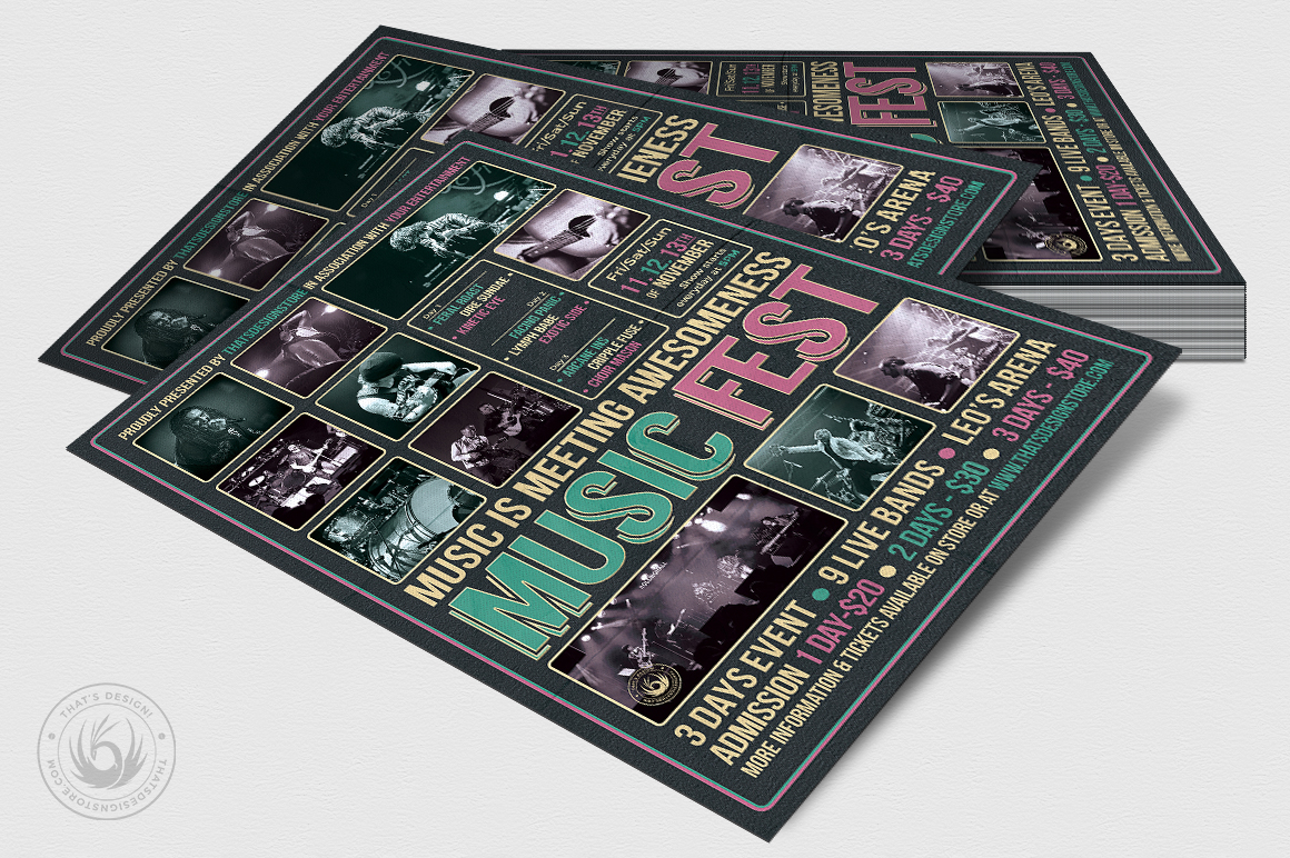 Music Festival Flyer Template V8 example image 4