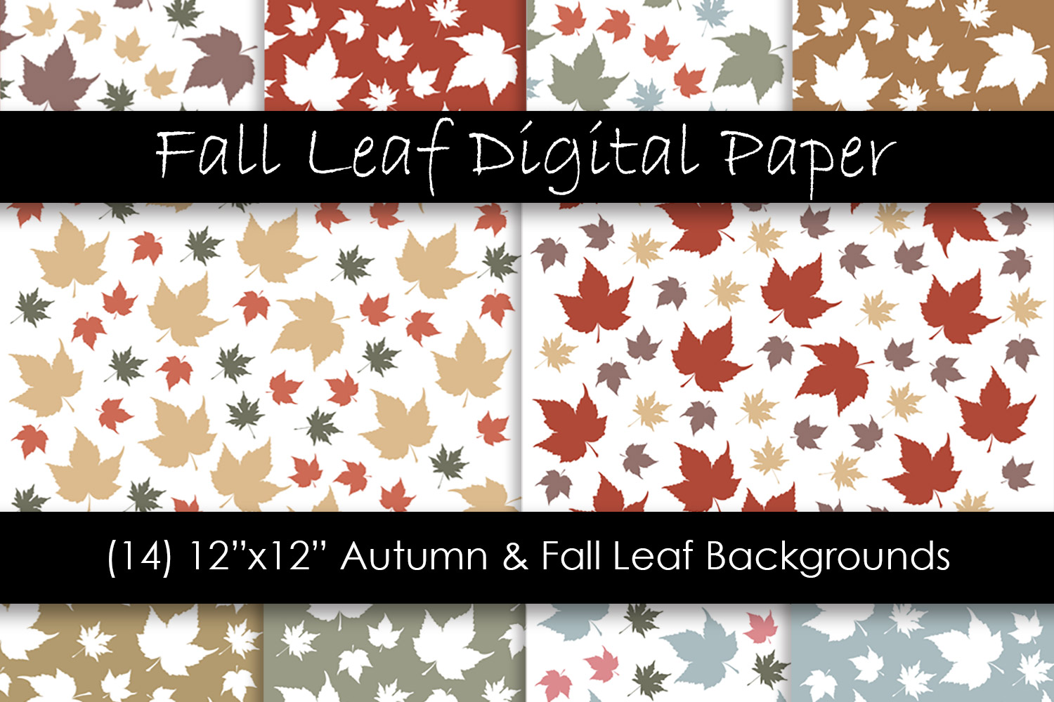 Autumn & Fall Leaf Backgrounds - Fall Leaf Patterns example image 1