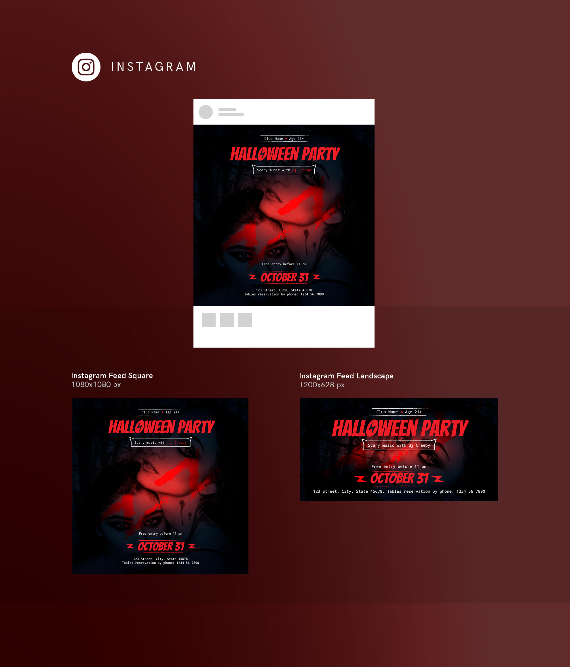 Halloween Party Design Templates Bundle example image 15
