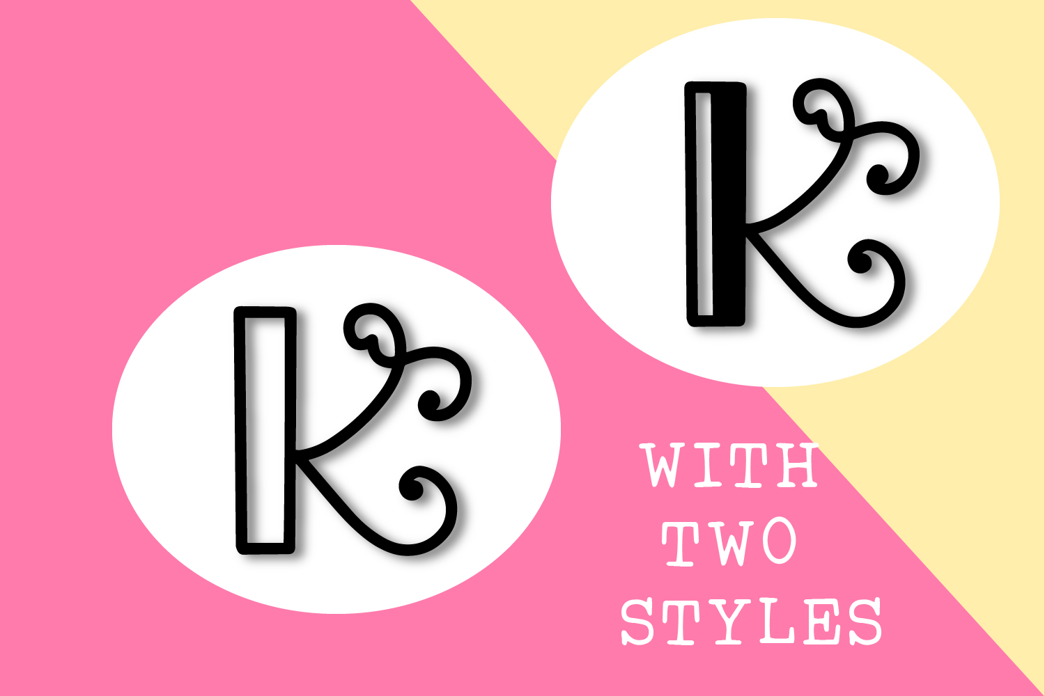 Intially - A Hand Lettered Monogram Font example image 3