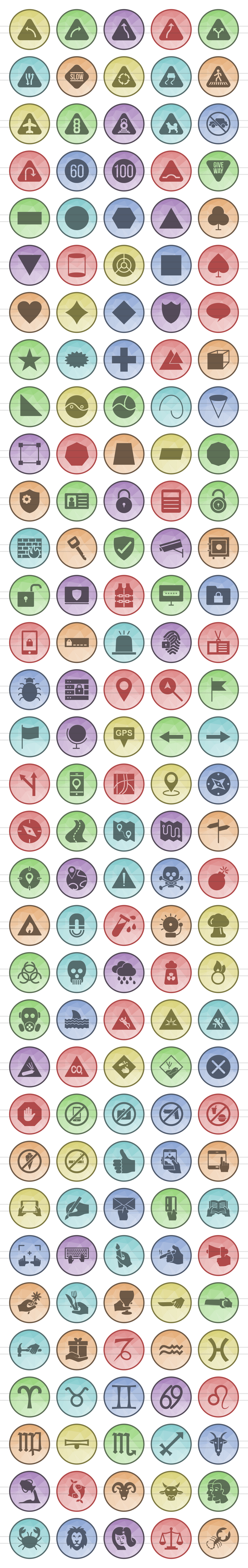 166 Sign Filled Low Poly Icons example image 2