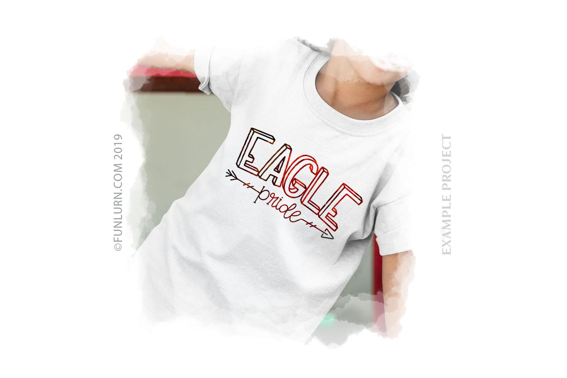 Eagle Pride Team SVG Cut File example image 3