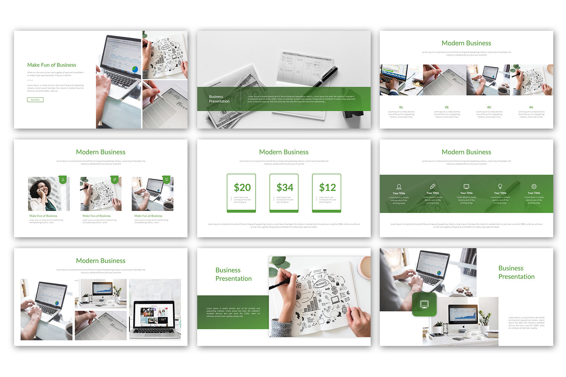 Modern Business Presentation Template example image 4