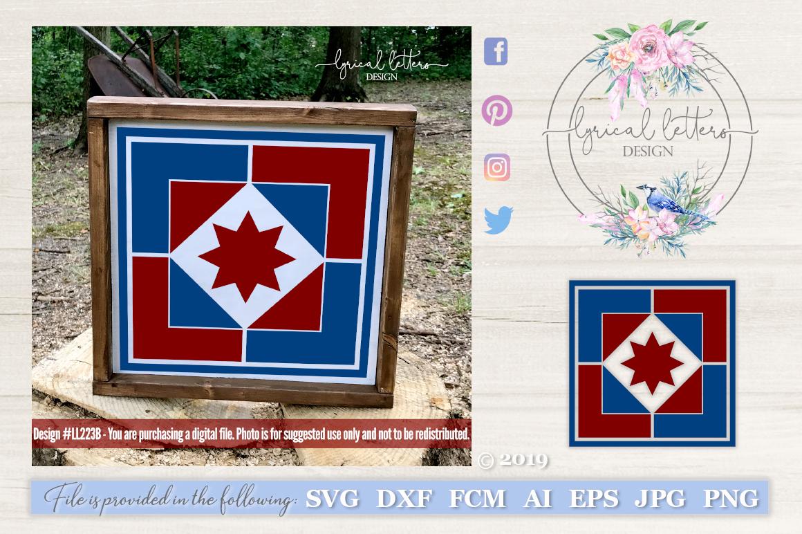 Barn Quilt Pattern Design 2 SVG DXF FCM LL223B example image 1