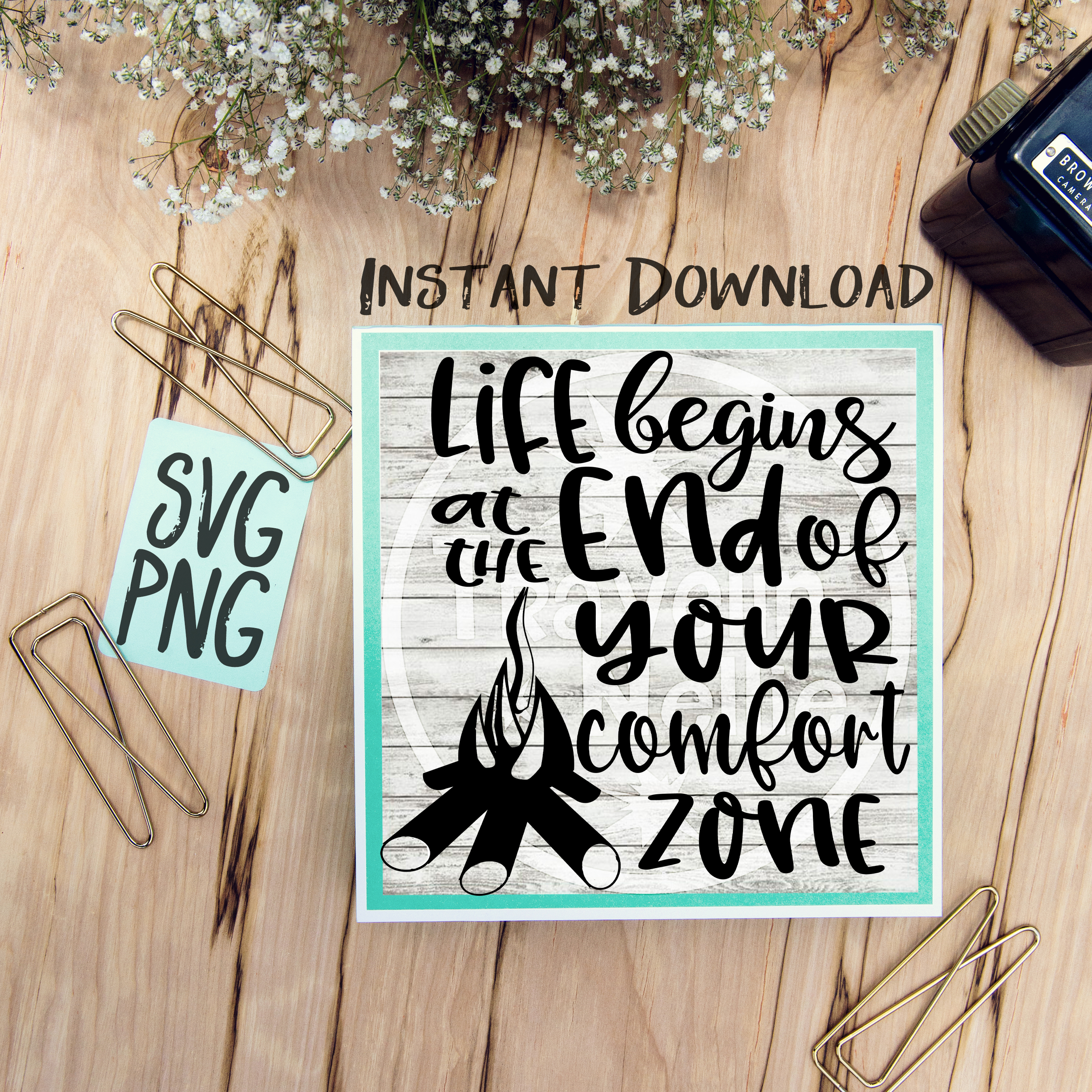 Life Begins At The End Of Your Comfort Zone SVG PNG Cricut Cameo Silhouette Brother Scan & Cut Crafters Cutting Files for Vinyl Cutting Sign Making example image 1