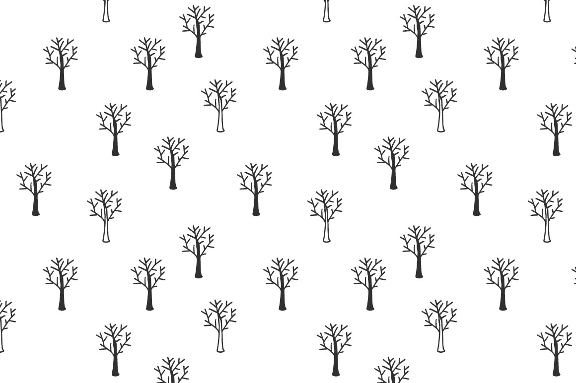 Trees pattern collection example image 4