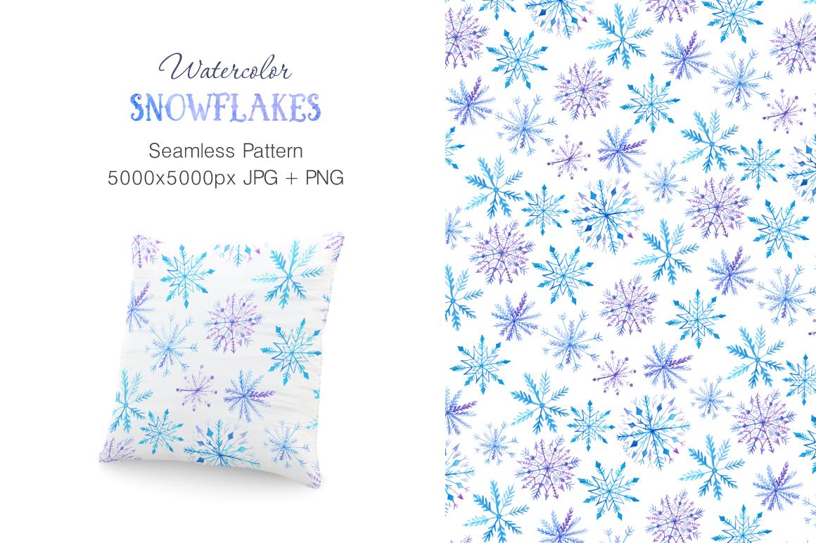 Watercolor Snowflakes Set Vol.2 example image 3